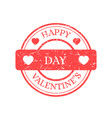 happy valentines day stamp isolated on vector image