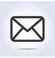 envelope icon gray colors vector image