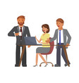 office teamwork concept vector image