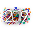 2019 new year background with colorful arrows vector image