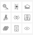9 universal icons pixel perfect symbols of vector image vector image
