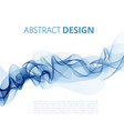 abstract color wave background smoke vector image