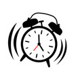 alarm clock ringing vector image vector image