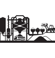 Asphalt mixing plant vector image vector image