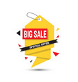 big sale banner special offer template tag vector image vector image