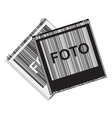 black and white with photos vector image vector image