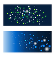 blue shining backgrounds vector image vector image