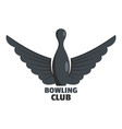 bowling prize logo flat style vector image vector image