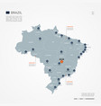 brazil infographic map vector image