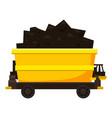 coal trolley icon cartoon style vector image vector image