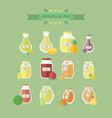 collection of jars with jam objects vector image vector image