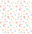 colorful memphis seamless pattern vector image vector image