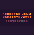 colorful of font and alphabet vector image vector image