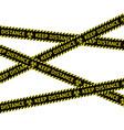 coronavirus quarantine warning type strips vector image vector image