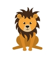 cute little lion animal character vector image vector image