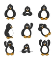 cute penguin set vector image vector image