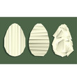 easter paper eggs vector image vector image