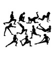 exercises girl silhouettes vector image