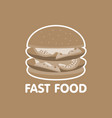 fast food burger icon concept vector image vector image