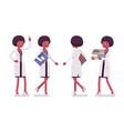 female black scientist walking vector image