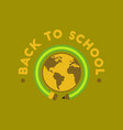 flat icon on background back to school globe vector image vector image