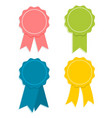 flate design award ribbon set vector image