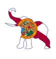 florida republican elephant flag vector image vector image
