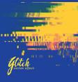 glitch signal error background in duotone colors vector image vector image
