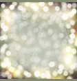 golden bokeh background vector image vector image