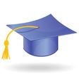 Graduation student hat cap icon symbol vector image