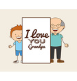 grandparents concept design vector image vector image