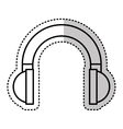 headset audio device isolated icon vector image vector image