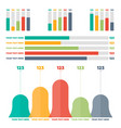 infographics elements color bar charts vector image