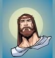 jesus portrait icon vector image vector image