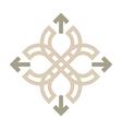 Logo Design Letter C Arrow Brown Icon Symbol vector image vector image