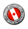 made in canada flag metal icon vector image vector image