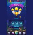 mahjong fish world - mobile vector image vector image