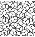 Monochrome isometric fall cubes seamles texture vector image
