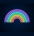 neon rainbow sign lgbt pride month lesbian gay vector image