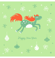 New Year and Christmas card with a horse vector image vector image