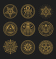 occult signs occultism alchemy astrology symbols vector image