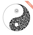 ornate symbol yin-yang decorative element vector image