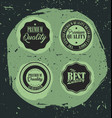 premium quality retro badges with grunge vector image vector image
