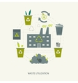 Recycling garbage and waste utilization concept vector image vector image