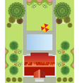 Regular garden plan vector | Price: 1 Credit (USD $1)