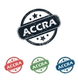 Round Accra city stamp set vector image vector image