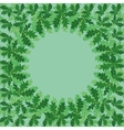 Round frame of oak leaves vector image