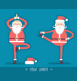 santa claus doing yoga isoiated for design vector image vector image