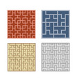 seamless geometric line pattern for tile and floor vector image