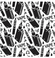 Seamless pattern of vape vector image vector image